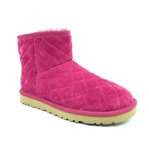 Ugg Arden Low Pink Quilted Winter Boots Size 7
